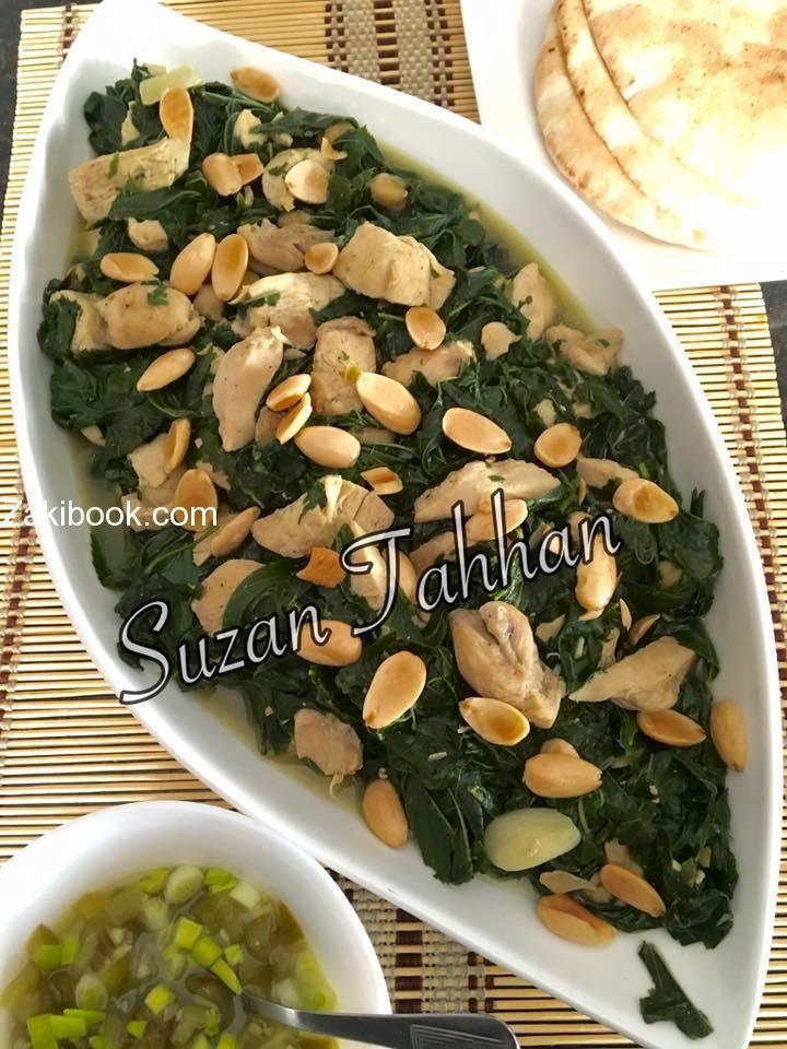 طريقة عمل الملوخية الورق أو البوراني زاكي Traditional Food Cooking Meals
