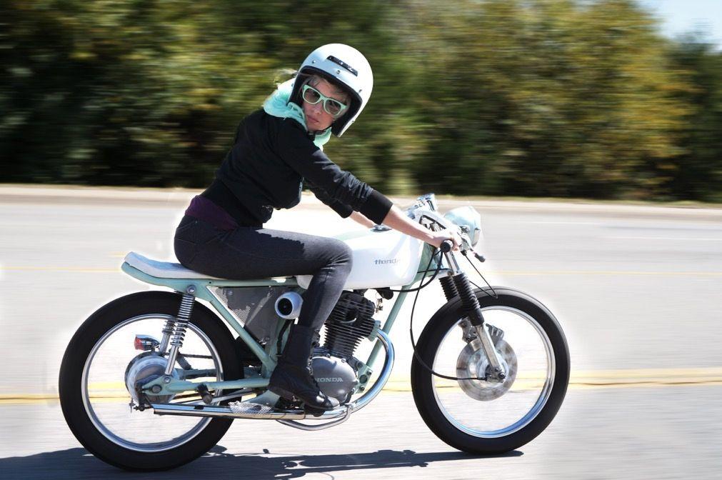 Honda Cb125 Brat Cafe Biff Honda Cb125 Brat Cafe Honda