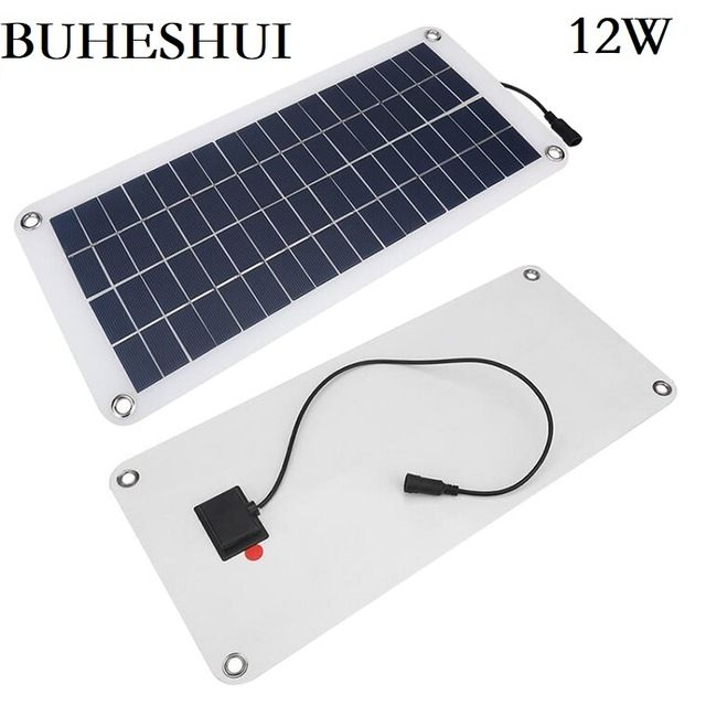 Buheshui 12w 12v 18v Semi Flexible Polycrystalline Silicon Solar Panel Cell Dc Module For 12vol Diy Battery Solar Energy Panels Solar Panels Best Solar Panels