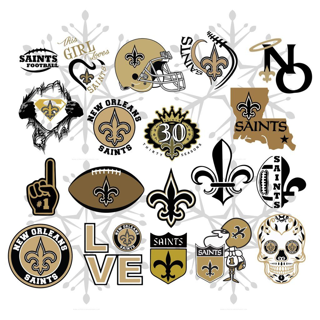 New Orleans Saints Svg Files For Silhouette Files For Cricut Svg Dxf Eps Png Instant Download Football Lover Gifts Saints Football Svg