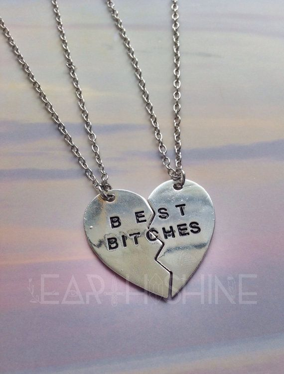 Hey, I found this really awesome Etsy listing at https://www.etsy.com/listing/257390264/best-bitches-best-friends-heart-necklace