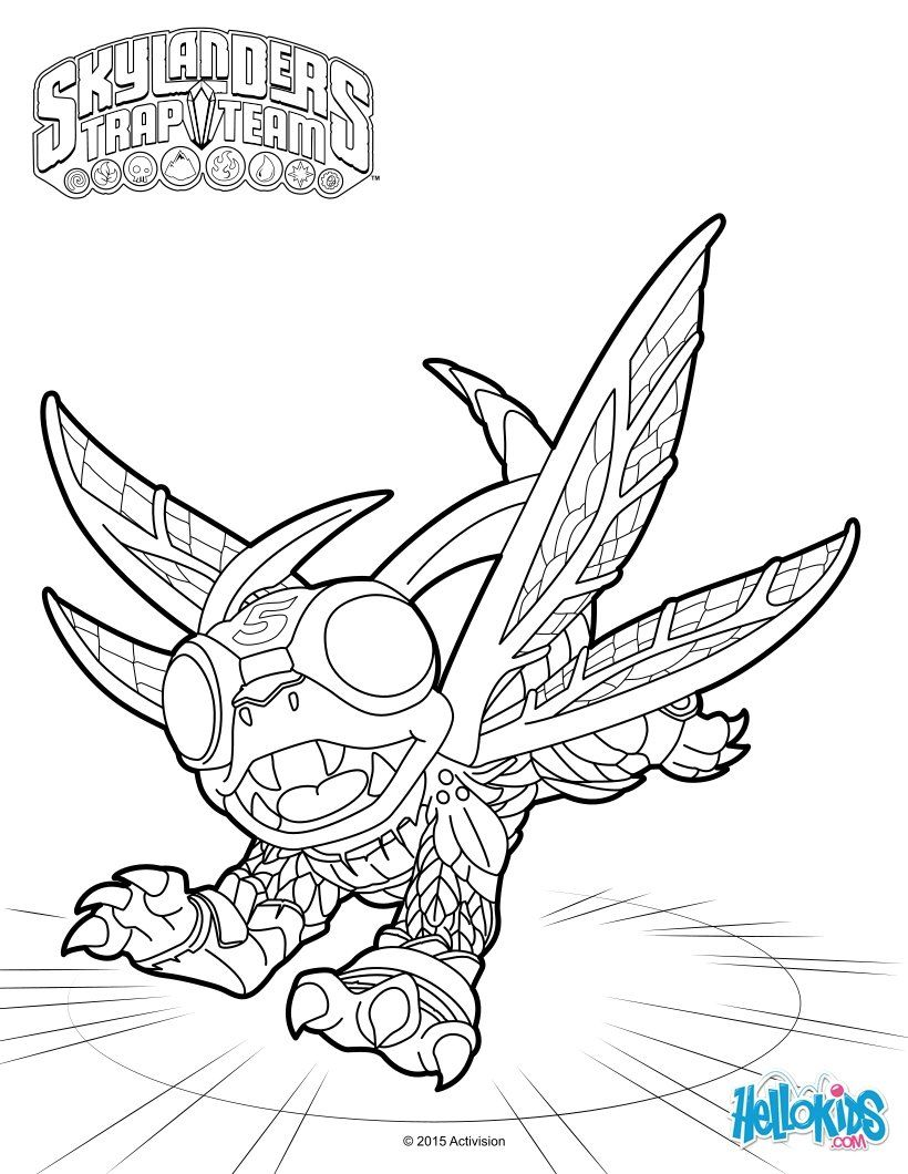 High Five coloring page from skylanders video game. More