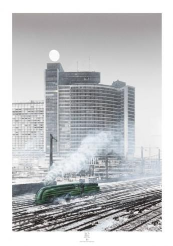"SCHUITEN & Marie-Françoise PLISSART sérigraphie ""Gare du nord""N°&S 50.EX"