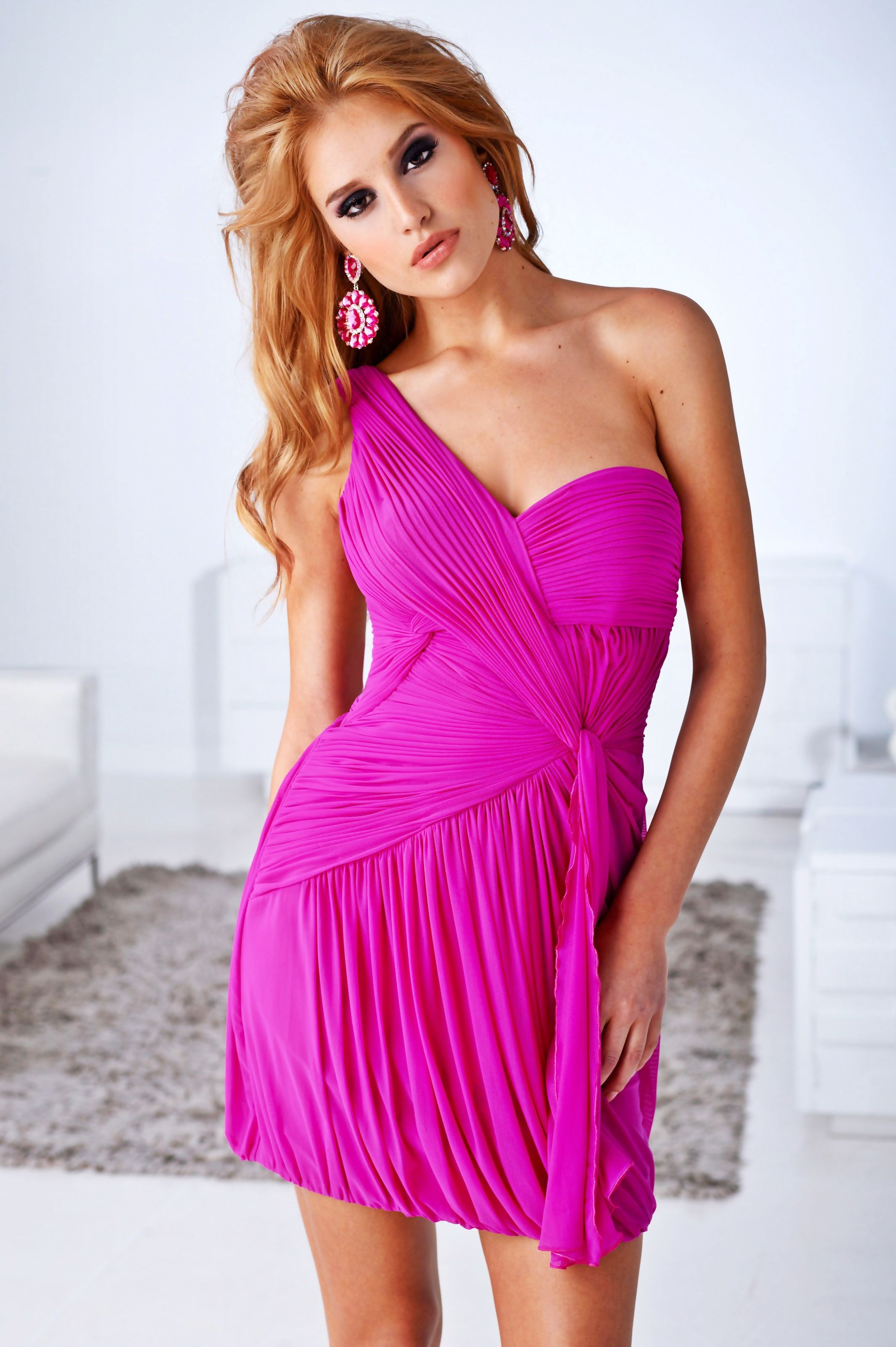 One-Shoulder Ruched Dress from Terani Couture Homecoming | Cocktail ...
