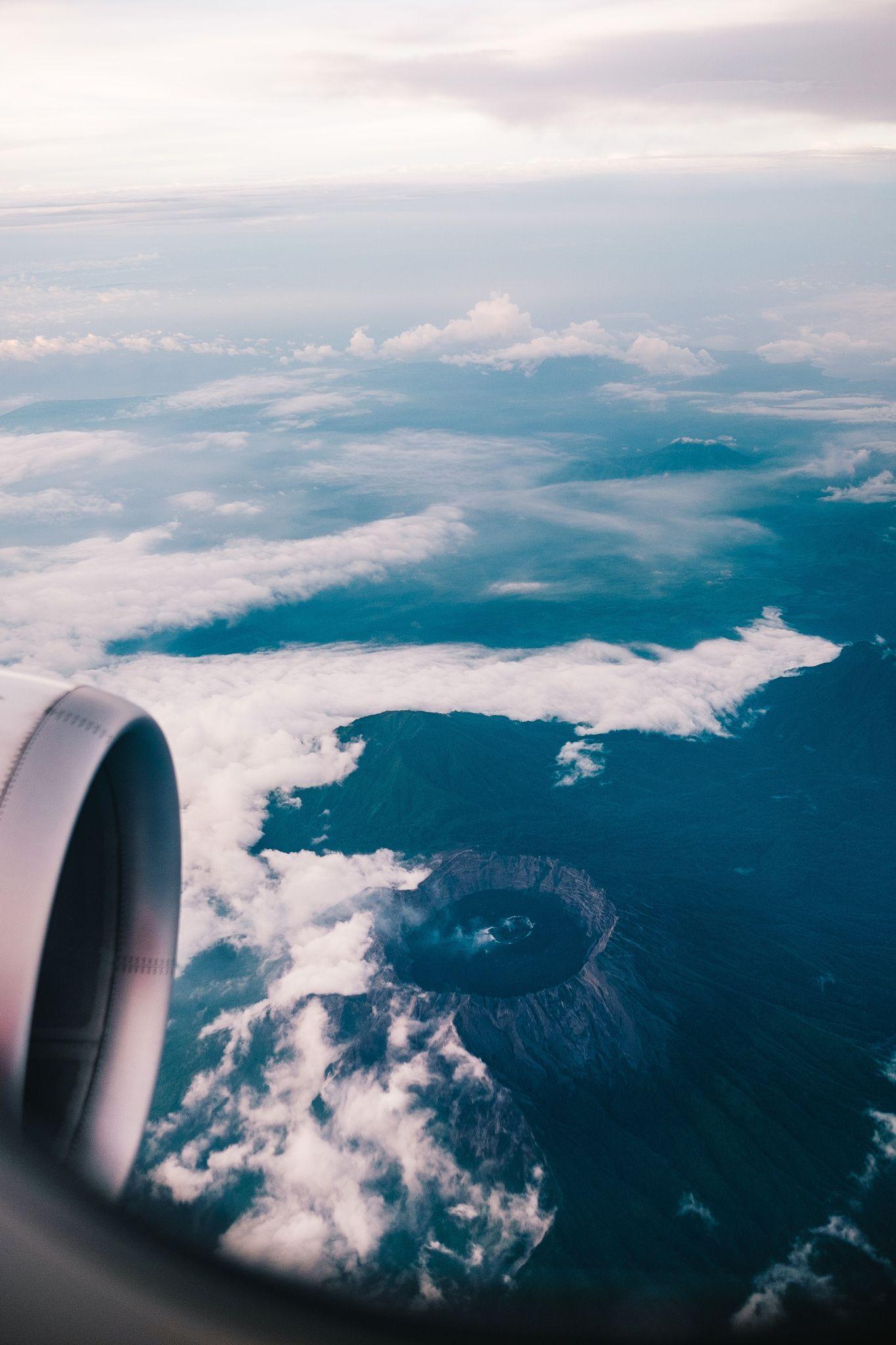 Beautiful Indonesia Airplane Window View Beautiful Indonesia