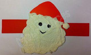 Mauriquices: Coroas de Natal para a cabeça.  O Pai Natal usa um carapuço e nós, crianças, usamos estas coroas!
