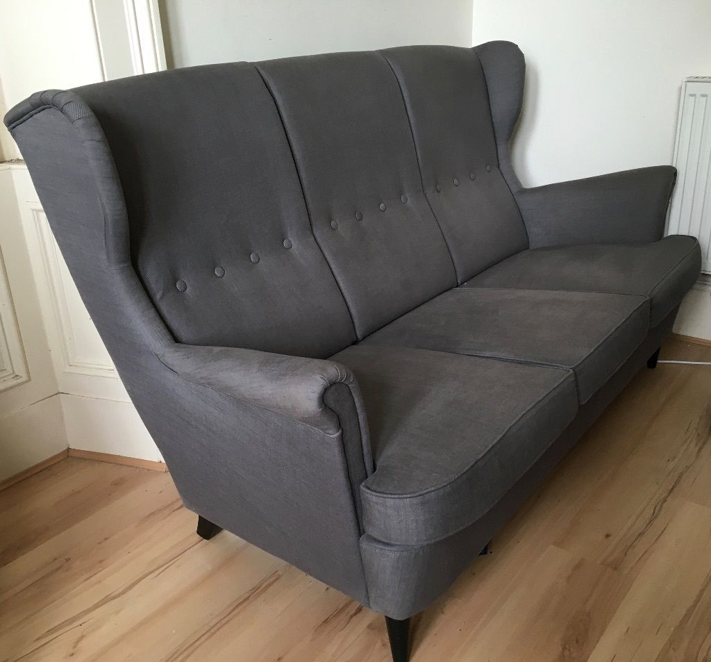3 seater sofa dark grey ikea strandmon good condition united kingdom gumtree home. Black Bedroom Furniture Sets. Home Design Ideas