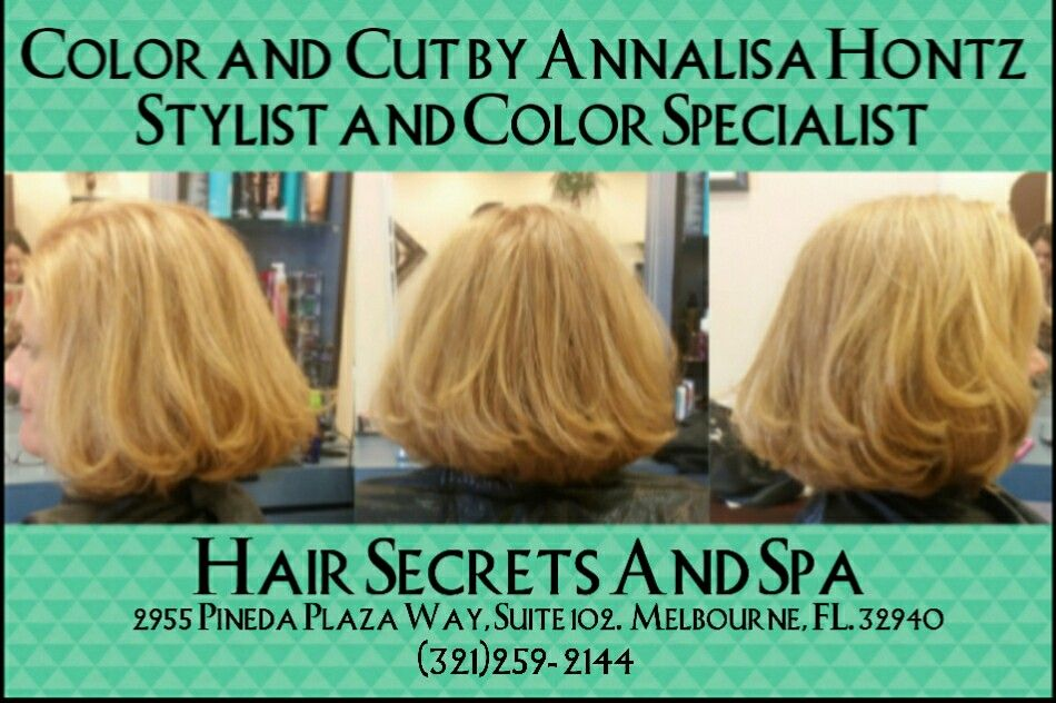 Strawberry Blond Cut And Color Bouncy Bob Lob Blonde Hair By