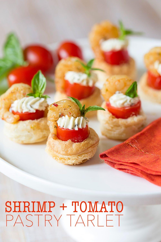 Easy Party Recipe | Shrimp & Tomato Pastry Tarlet