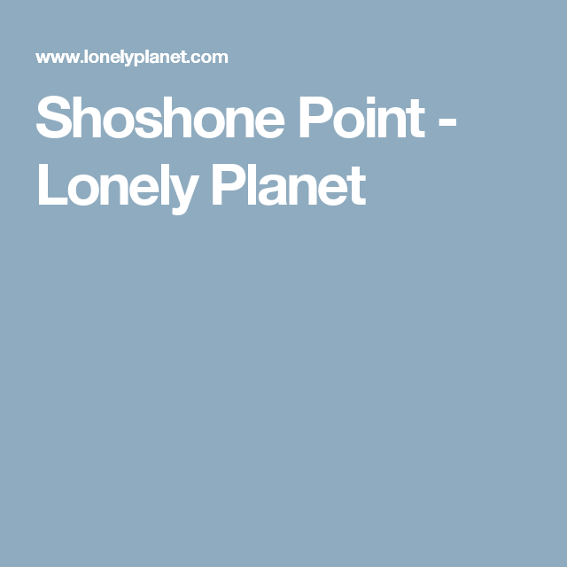Shoshone Point - Lonely Planet