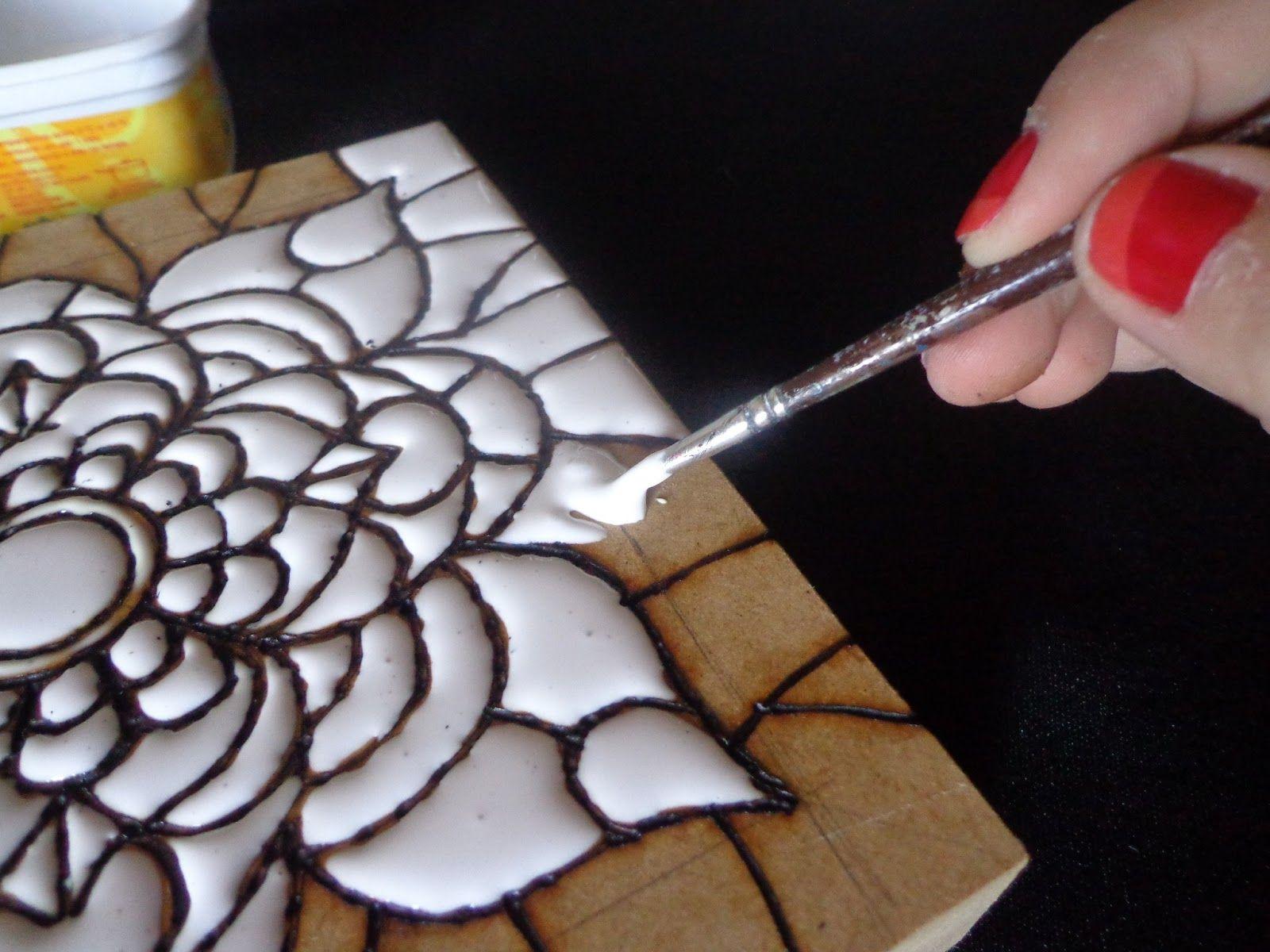A t cnica do falso mosaico artesanato cultura mix - Como pintar mosaicos ...