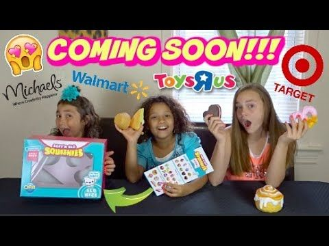 NEW SQUISHIES AT TARGET WALMART TOYS R US AND MICHAELS