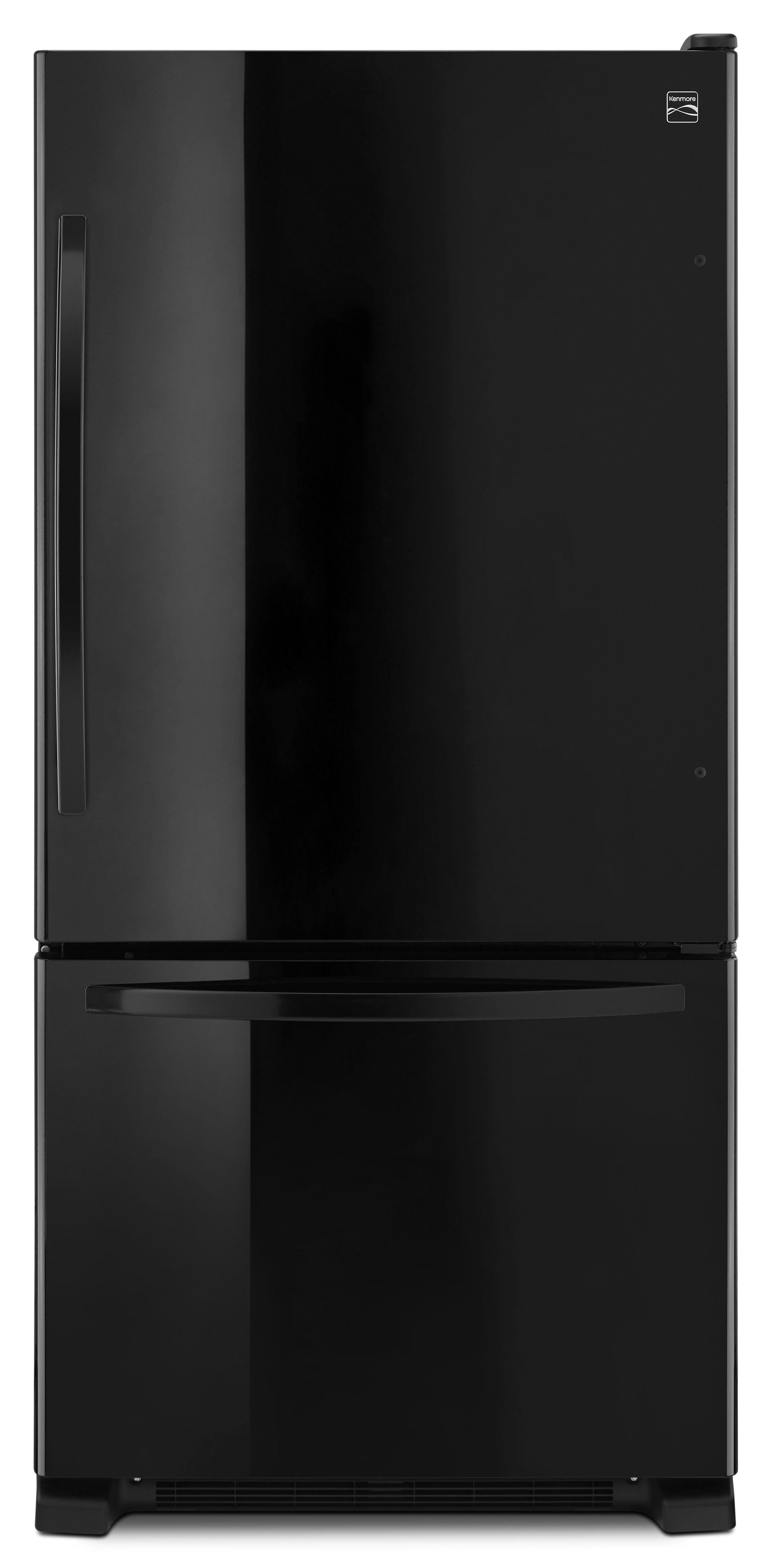 Kenmore 79349 22 Cu Ft Bottom Freezer Refrigerator Black Bottom Freezer Refrigerator Bottom Freezer Refrigerator