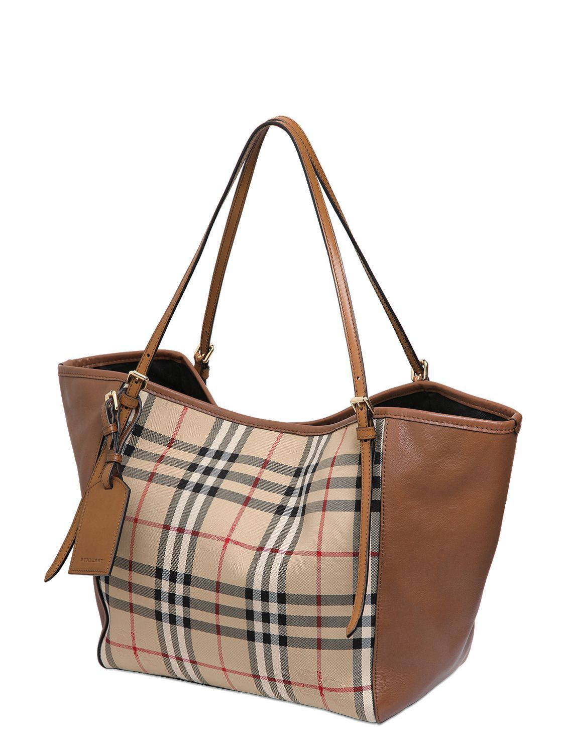 Burberry Canterbury Horseferry Leather Bag Luisaviaroma Luxury Ping Worldwide Shipping Florence