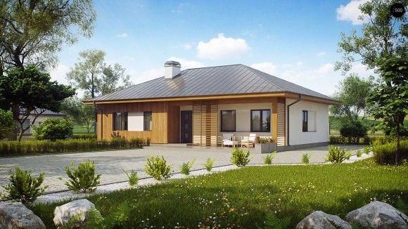 Готовый проект одноэтажного дома с террасой в Минске дом Pinterest - plan d une maison simple