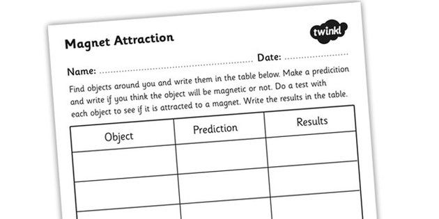 Magnet Attraction Worksheet Forces and Magnets – Magnet Worksheets