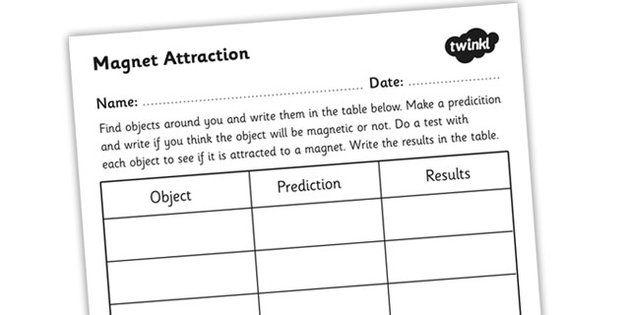 Magnet Attraction Worksheet Worksheets Magnets Childrens Learning Magnets worksheets 2nd grade