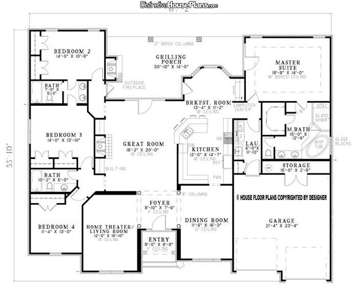 My Account Distinctive House Plans House Plans One Story Traditional House Plans Best House Plans