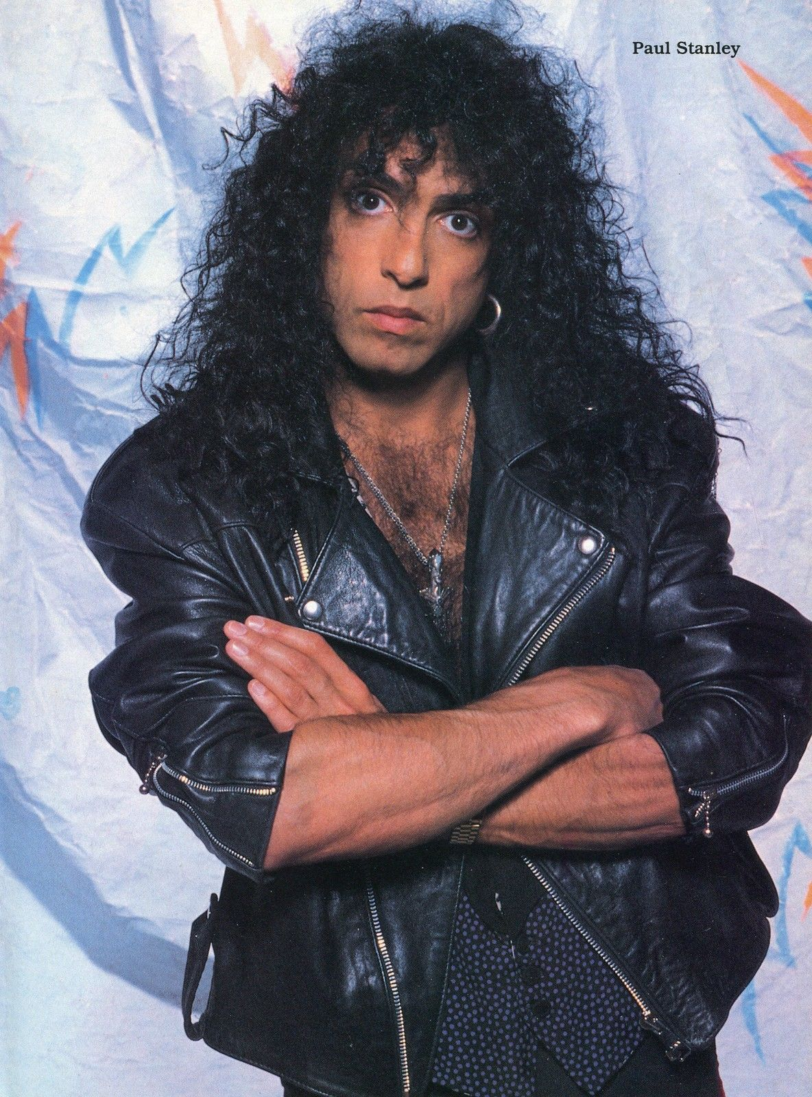 Paul Stanley Pinup clipping 80's Smashes Thrases and Hits ...
