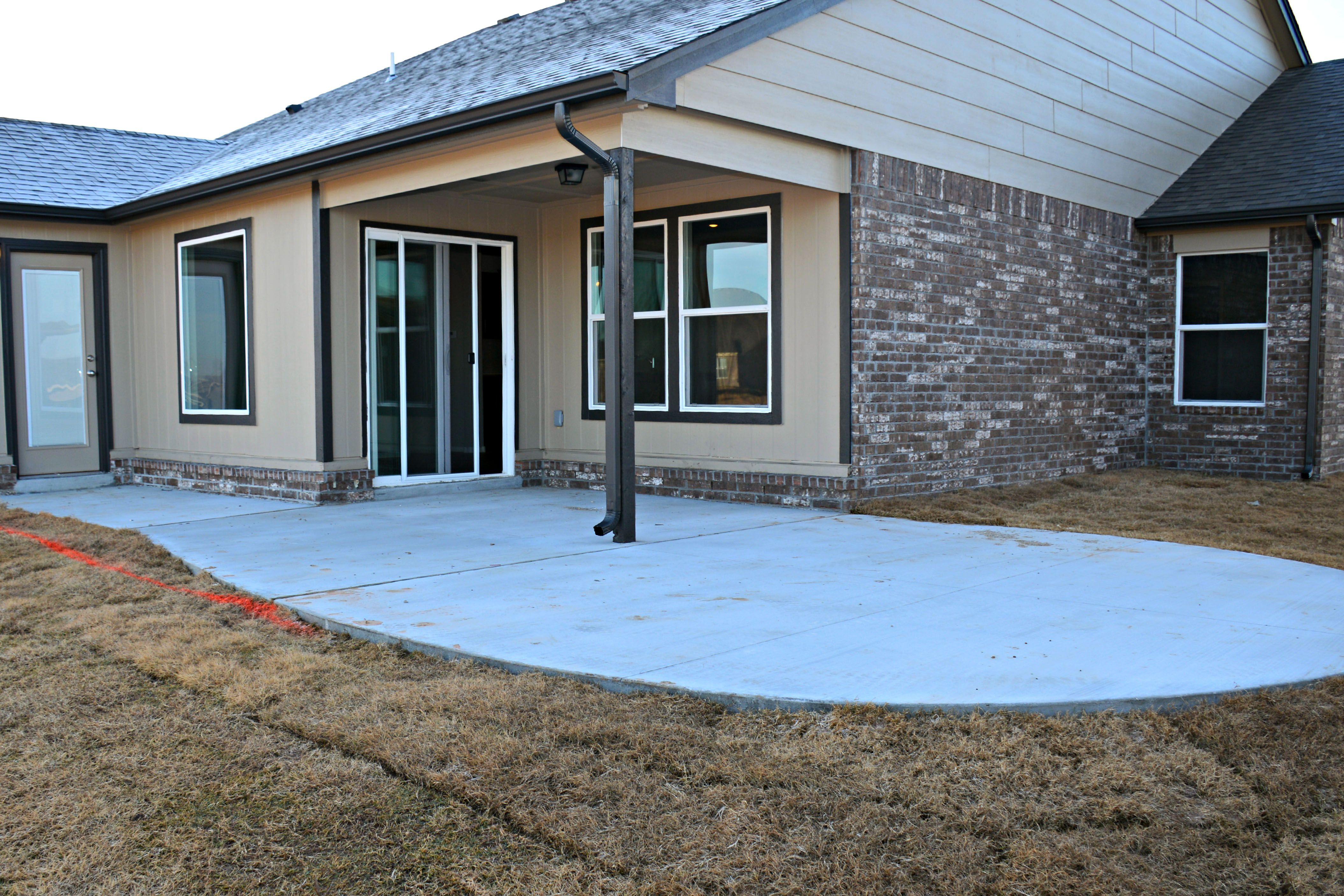 Simmons Homes Concrete Patio Extension Option. Outdoor Living. New Homes  Tulsa.