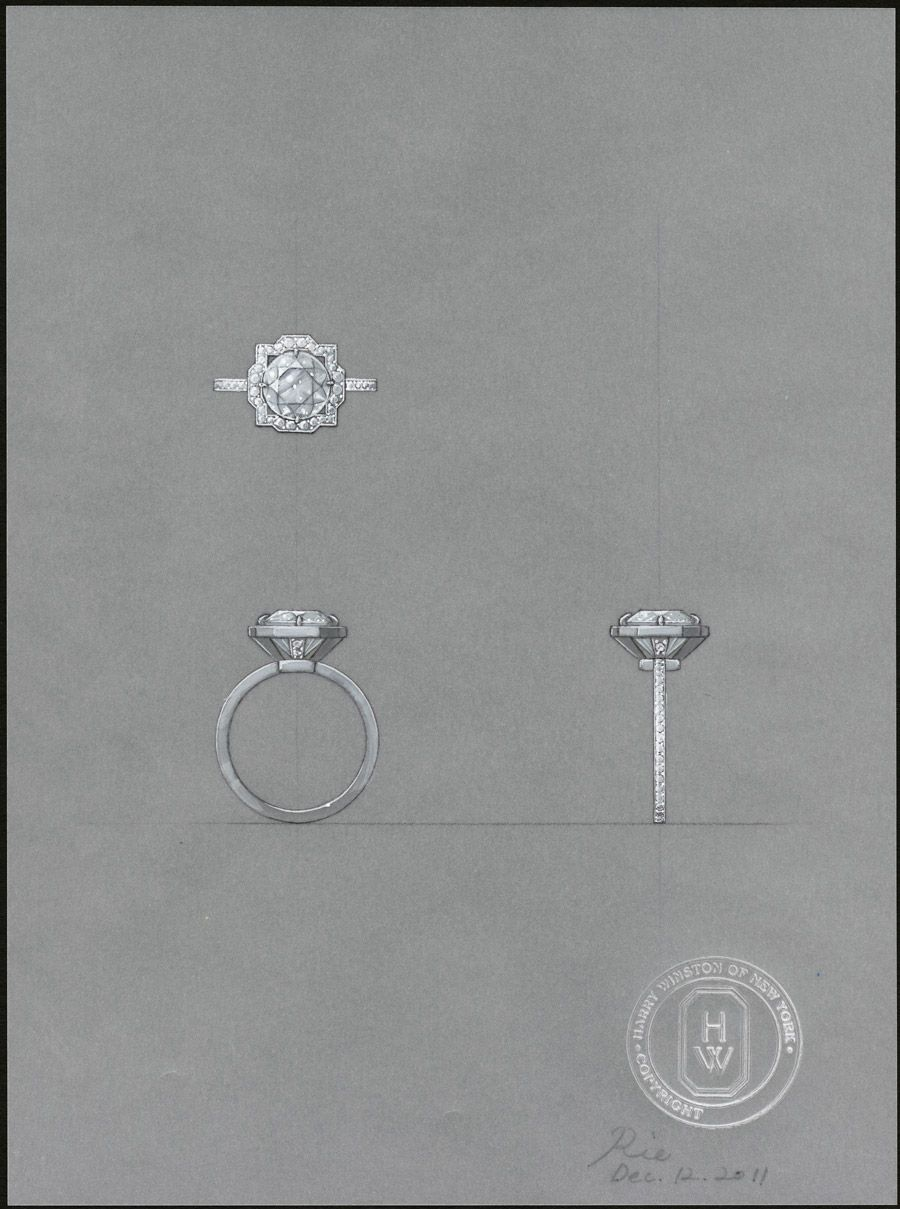 harry winston wedding rings Harry Winston and the bridal Belle