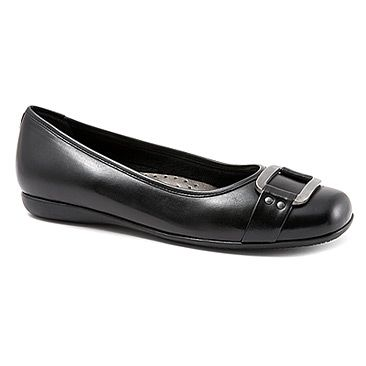 buy discount Trotters Women's Sizzle Womens Black Burnished Soft Kid Leather Trotters Womens Flats