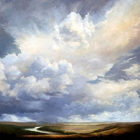 Vantage Artist Victoria Adams It S Cloud Illusions I Recall I Really Don T Know Clouds At All Landscape Paintings Watercolor Clouds Watercolor Sky