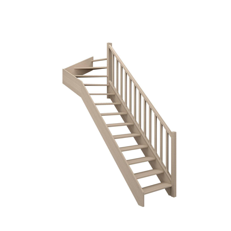 Escalier 1 4 T Haut Droit Bois Hetre Soft Classic Scm 13 Mar Hetre L 84 9 Escalier Quart Tournant Haut Escalier Quart Tournant Et Structure Bois