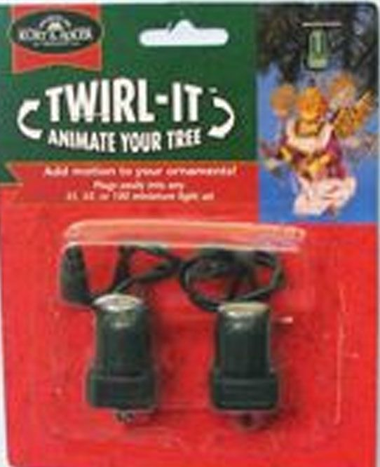 Ornament Rotator  Twirl It Set of 2  70s Disco Party