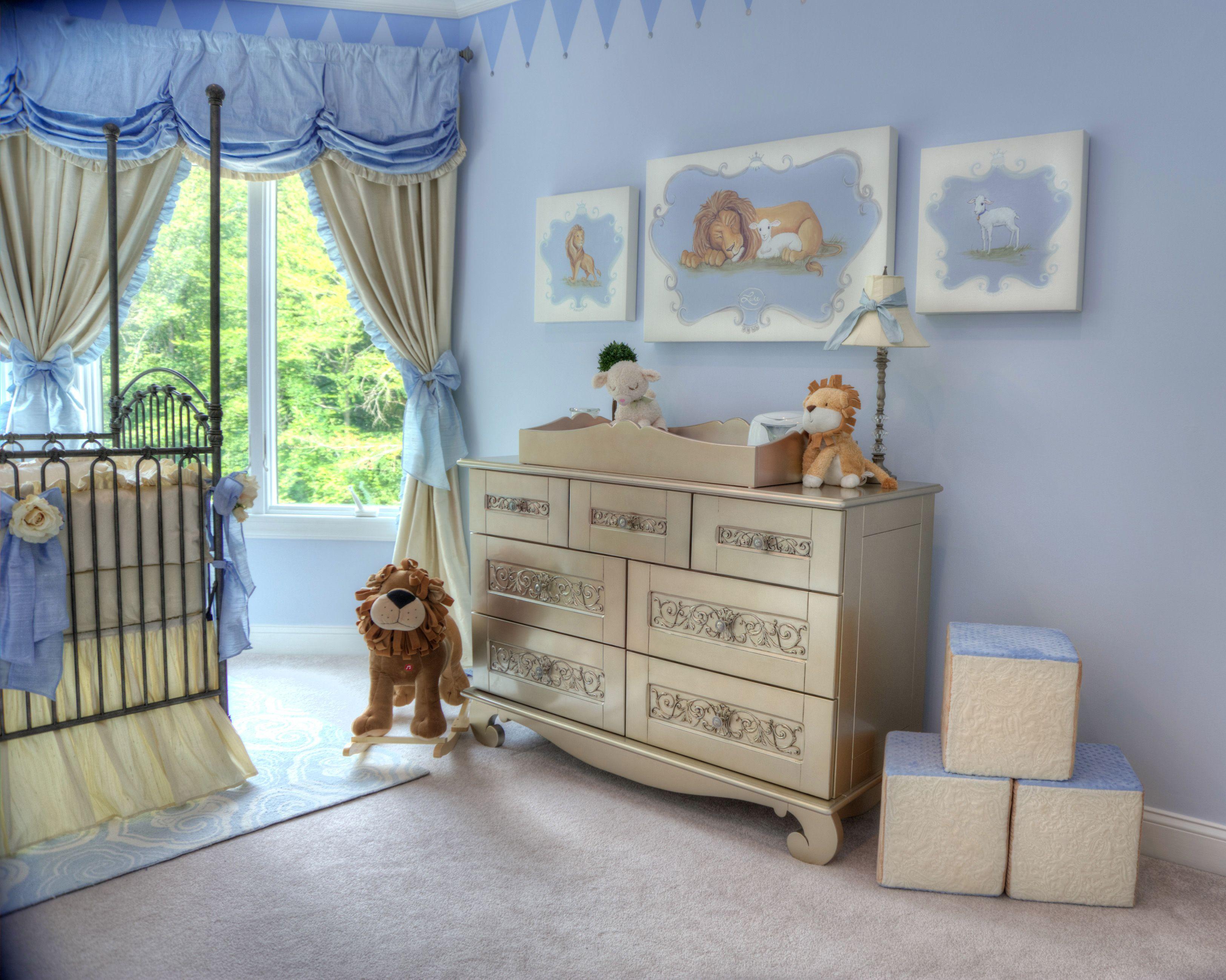Nursery Design Trends Advice From Celebrity Designer: Royal Prince Nursery, Prince Design Ideas, Royal Baby