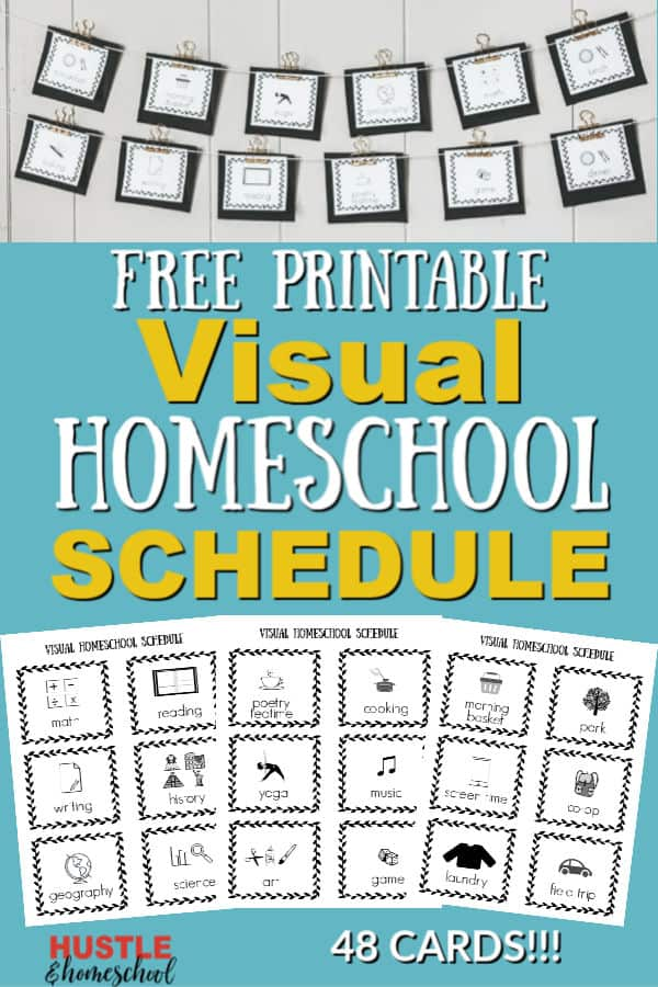 Visual Homeschool Schedule Plus FREE Printable in 2020