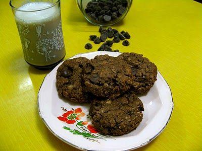 Gluten-Free Double Chocolate Chip Cookies - vegan