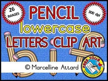 Pencil Alphabet Clipart Back To School Clipart  School