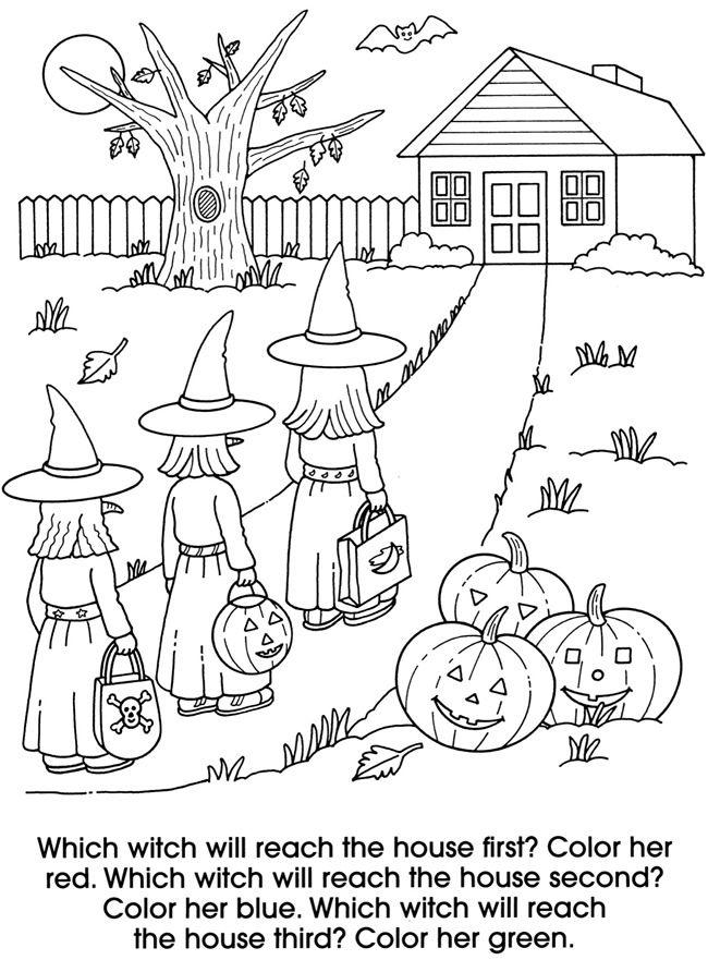 Giant Halloween Fun Colouring Book @ Dover Publications | coloring ...