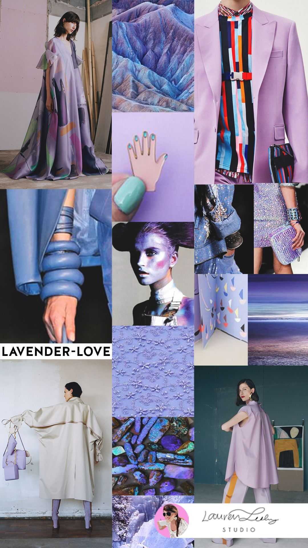 Lavender color in clothes