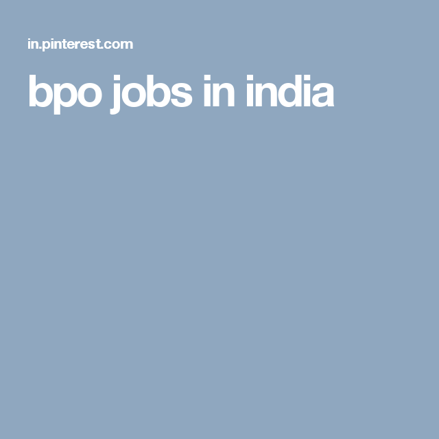 bpo jobs in india, Jobs in bhopal
