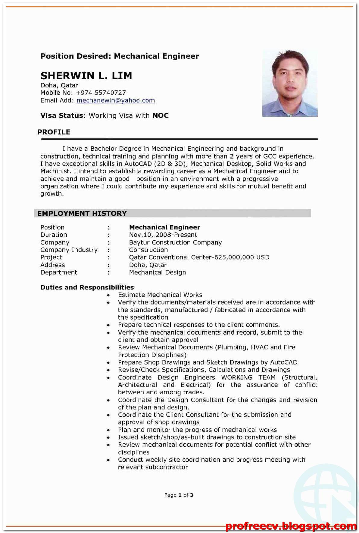 Mechanical Engineer Resume Templates 2021 Mechanical Engineer Resume Engineering Resume Resume Examples
