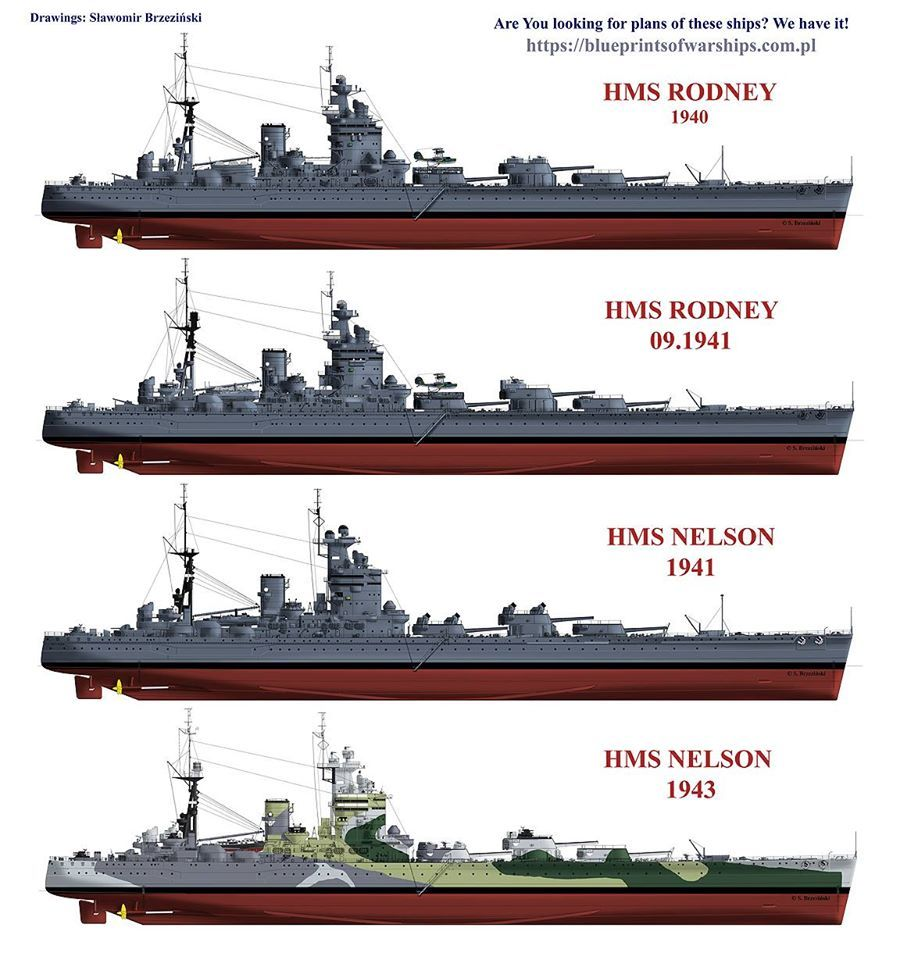 Wwii italy navy battleship roma 1943 plastic model images list - Hms Rodney Nelson Battleships