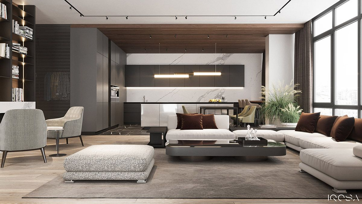 Classy Interior Designs With Slick Dark Accent Pieces