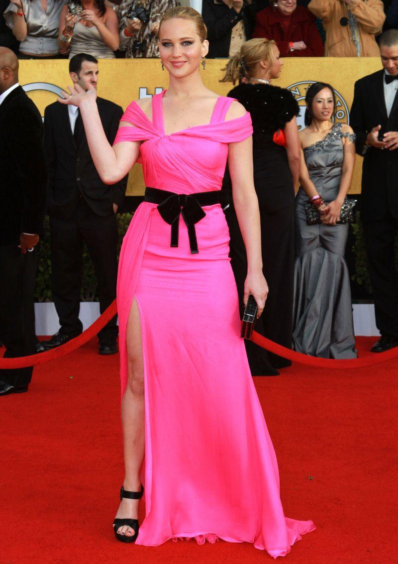 I really like Jennifer Lawrence's dress! so pretty!