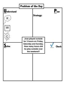 Problem Solving Using An Organizational Chart Ups Word Problem
