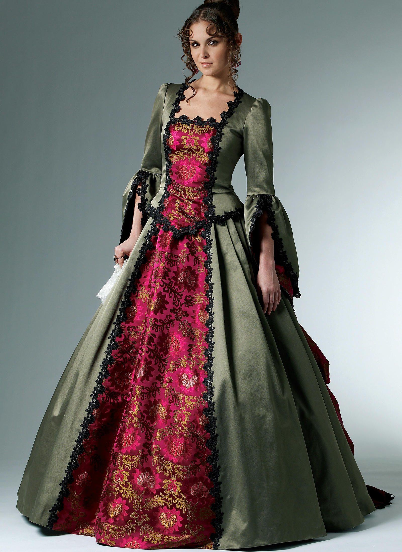 M6097 Victorian Era Dresses Victorian Costume Mccalls Patterns Dress [ 2200 x 1600 Pixel ]