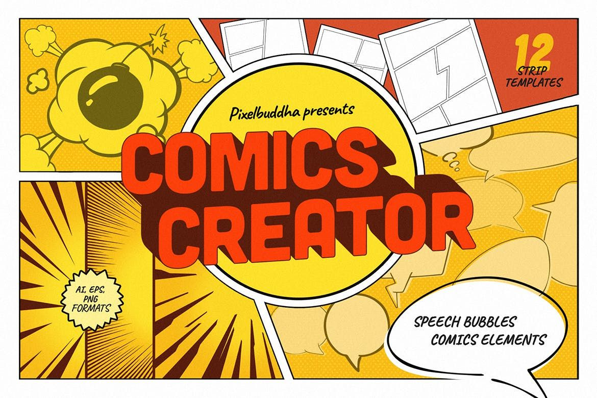 Comics Creator By Pixelbuddha Graphic On In