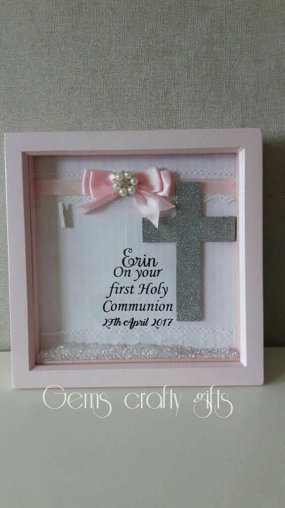 Girl/'s First Holy Communion Sliver Photo Frame Holy Religious Gift 1st