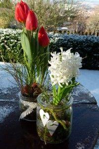 Frühlingsdekoration im Glas - neue Ideen zum Selbermachen für drinnen