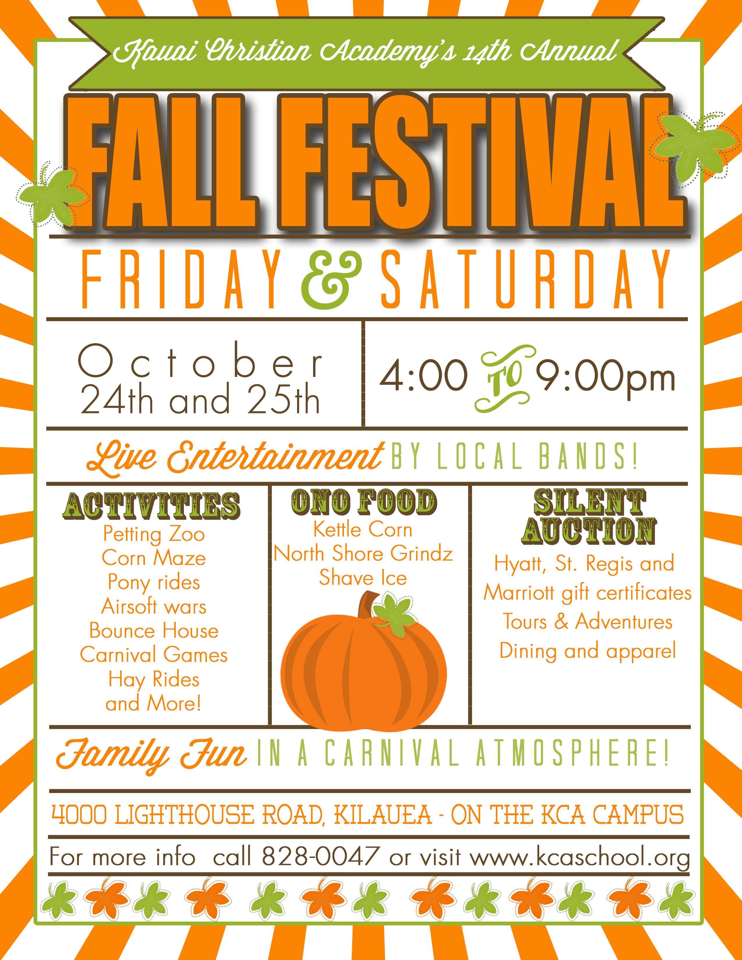 Christian Academy S 14th Annual Fall Festival