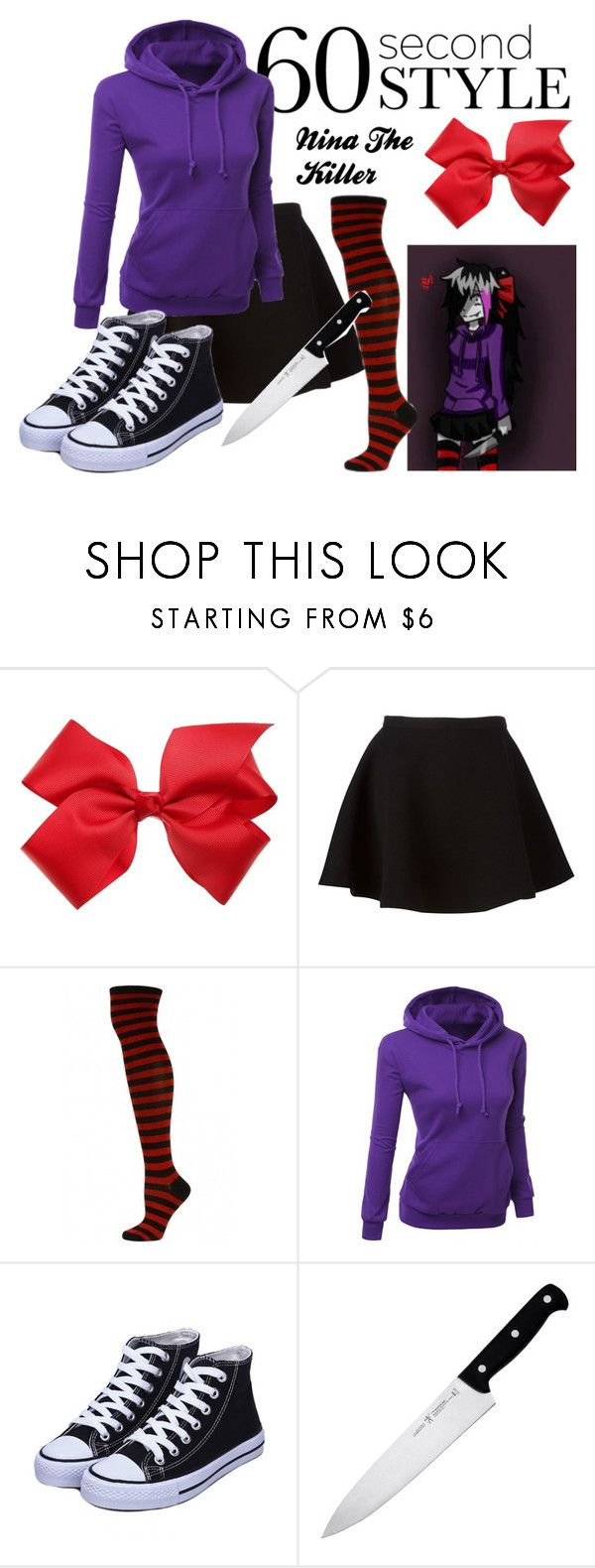 """""""60 Second Style: Nina The killer CreepyPasta Costume"""" by xxstay-goldxx ❤ liked on Polyvore featuring Neil Barrett and J.A. Henckels"""