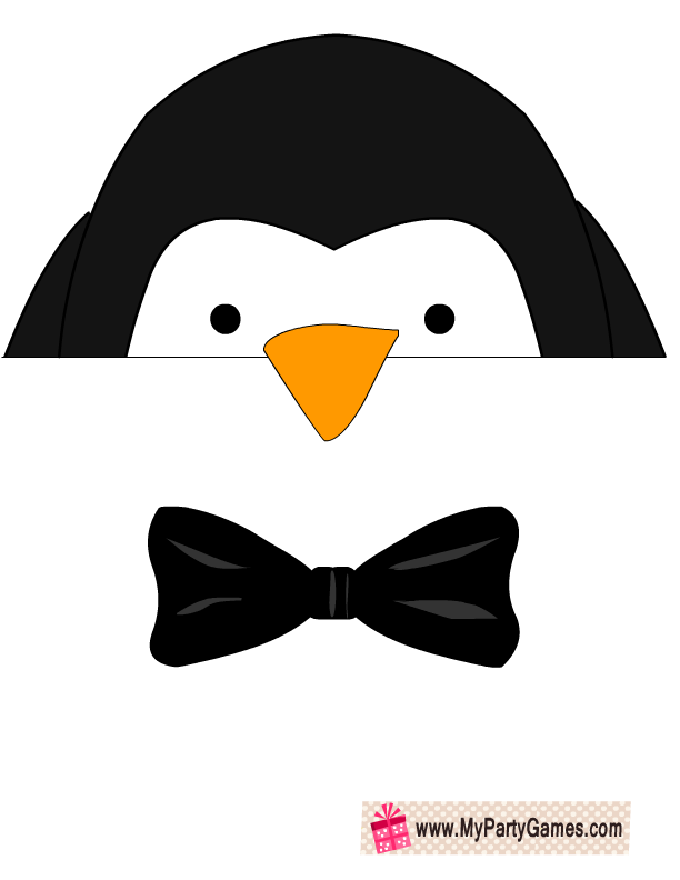 image about Printable Penguin called Absolutely free Printable Penguin Image Booth Props Printrable