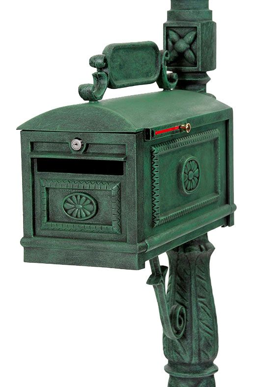 Locking Mailbox with Paper Box Secure Cast Aluminum Mailbox Better Box Mailboxes