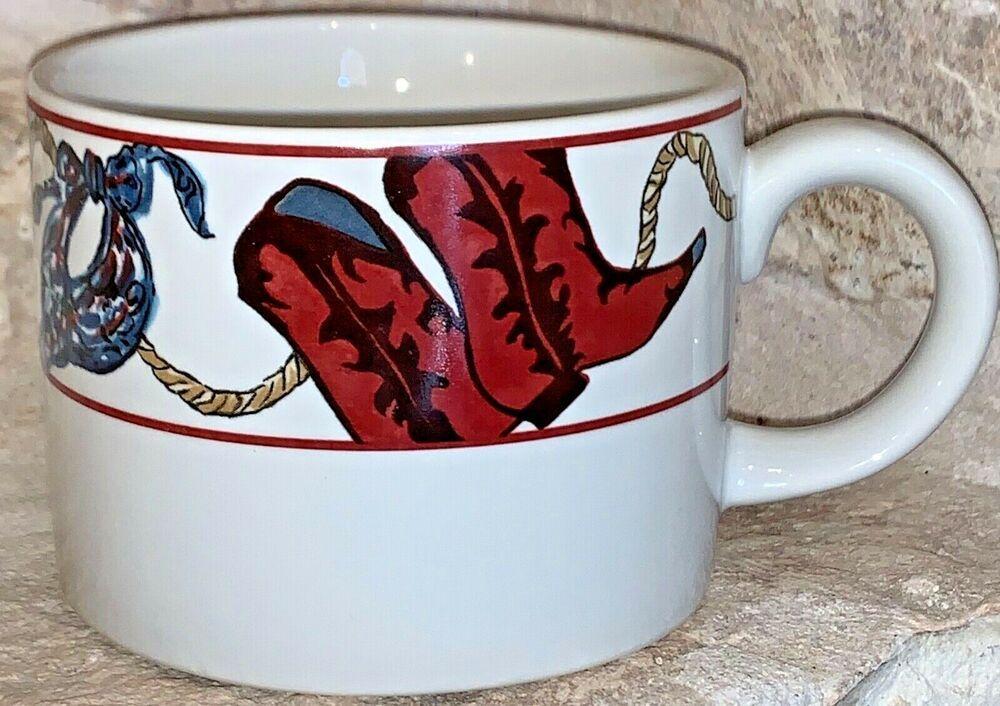 Vintage Sakura Laredo Western Cowboy Tea Coffee Mug